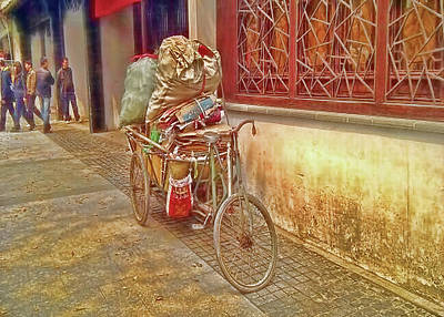 Digital Art - Bicycle In China by Cathy Anderson