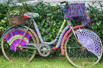 Photograph - Bicycle In Knitted Sweater by Eva-Maria Di Bella