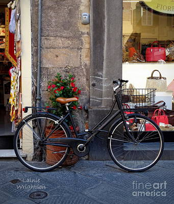 Bicycle In Lucca Art Print
