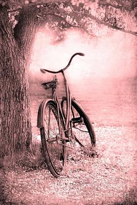 Digital Altered Photograph - Bicycle In Pink by Sophie Vigneault