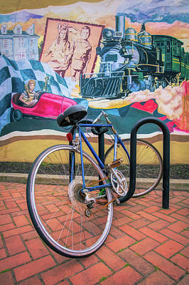 Photograph - Bicycle In Rack Enjoying The Mural by Gary Slawsky