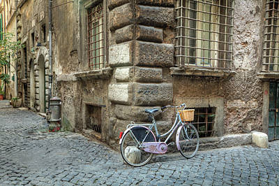 Bicycle In Rome Art Print by Al Hurley