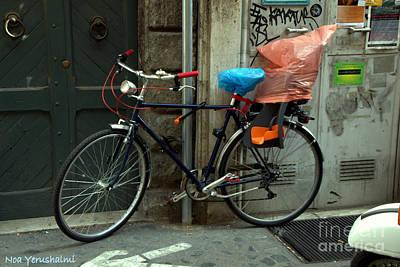 Bicycle In Rome Art Print
