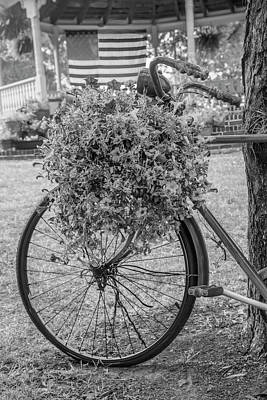 Photograph - Bicycle In The Park Art Black And White by Debra and Dave Vanderlaan