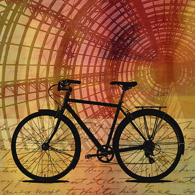 Digital Art - Bicycle Life by Nancy Merkle