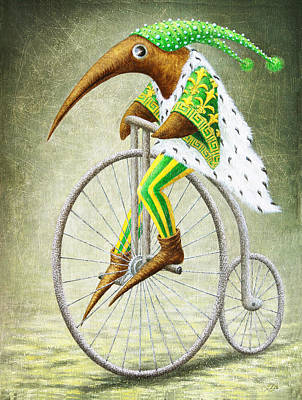 Elves Painting - Bicycle by Lolita Bronzini