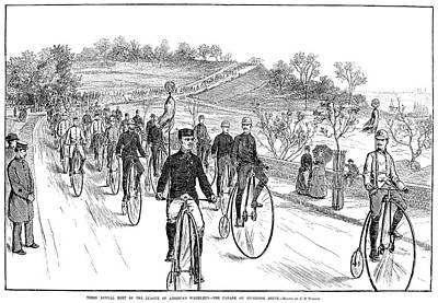 Photograph - Bicycle Meet, 1883 by Granger