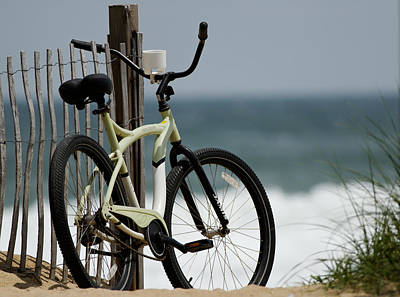Bicycle On The Beach Art Print by Julie Niemela