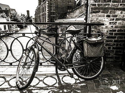 Photograph - Bicycle On The Canal by Lexa Harpell