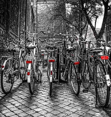 Photograph - Bicycle Park by Deborah Ann Stott