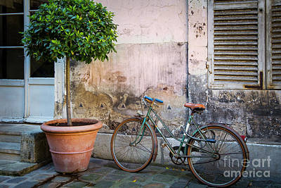 Photograph - Bicycle Parked In Paris by Brian Jannsen