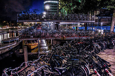 Photograph - Bicycle Parking Rack by William Kimble