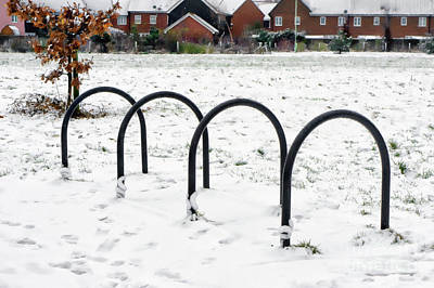 Photograph - Bicycle Parking Racks by Tom Gowanlock