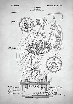 Digital Art - Bicycle Patent by Taylan Apukovska