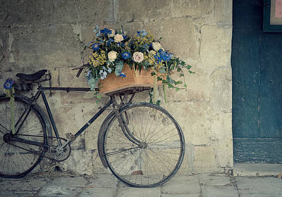 Hanging Baskets Photograph - Bicycle by Photogodfrey