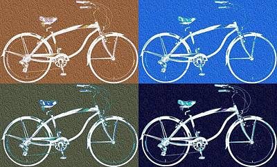 Pigeon Digital Art - Bicycle Pop Art Poster by Dan Sproul