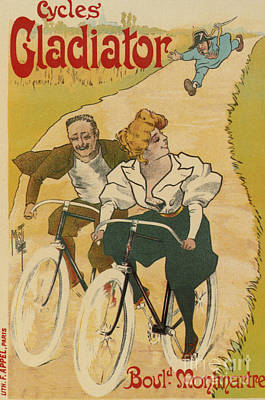 Photograph - Bicycle Poster, 1895 by Granger