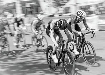 Athlete Photograph - Criterium by Jim Hughes