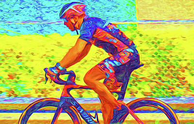 Photograph - Bicycle Racer by Dennis Cox WorldViews