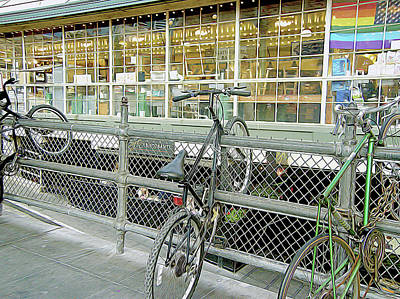 Photograph - Bicycle Rack by Linda Carruth