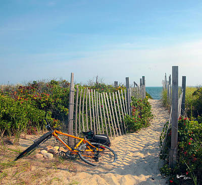 Sand Fences Photograph - Bicycle Rest by Madeline Ellis
