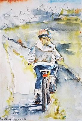 Graphics Painting - Bicycle Ride by Tetiana Khalaziy