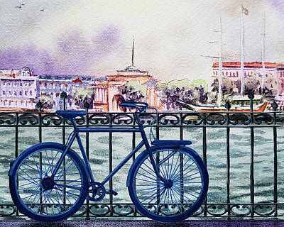 Transportation Royalty-Free and Rights-Managed Images - Bicycle Ride To The City by Irina Sztukowski