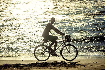 Photograph - Bicycle Rider by Azad Pirayandeh