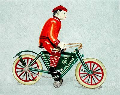 Bicycle Rider Original by Glenda Zuckerman