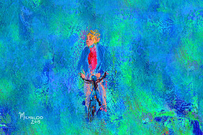 Painting - Bicycle Rider by Michael A Klein