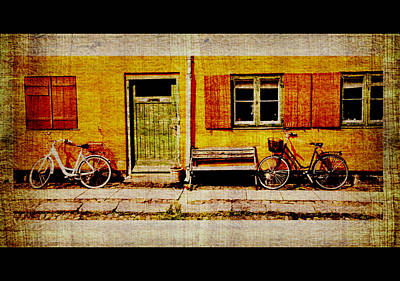 Photograph - Bicycle Scene -  Modified - Copenhagen by Jacqueline M Lewis