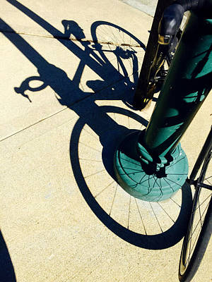 Bicycle Photograph - Bicycle Shadow by Nancy Merkle