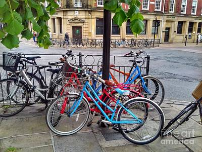 Photograph - Bicycle Shambles In York by Joan-Violet Stretch
