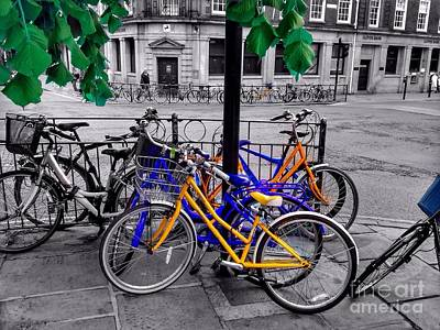 Photograph - Bicycle Shambles York Colours by Joan-Violet Stretch