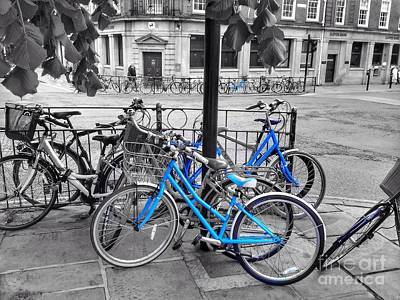 Photograph - Bicycle Shambles York In Blue by Joan-Violet Stretch