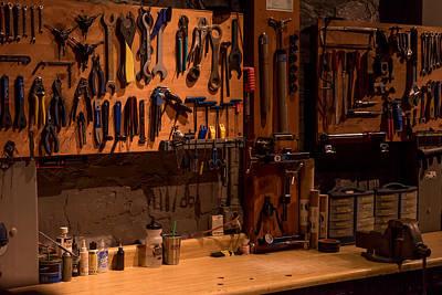 Photograph - Bicycle Shop Bench by Derek Dean