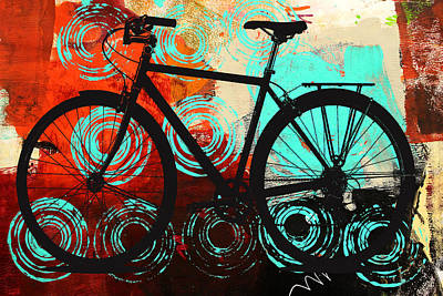 Digital Art - Bicycle Wheels by Nancy Merkle