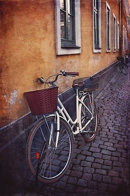 Bicycle With A Basket Art Print by Carol Japp