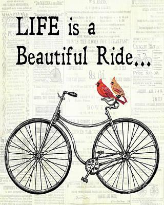 Bicycle With Cardinals B Original