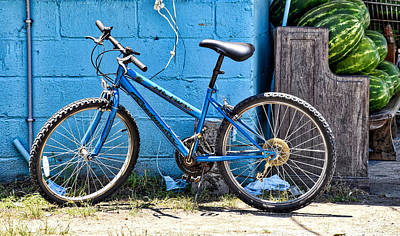 Photograph - Bicycle With Watermelons by Linda Brown