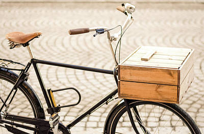 Photograph - Bicycle With Wooden Basket by Marius Sipa