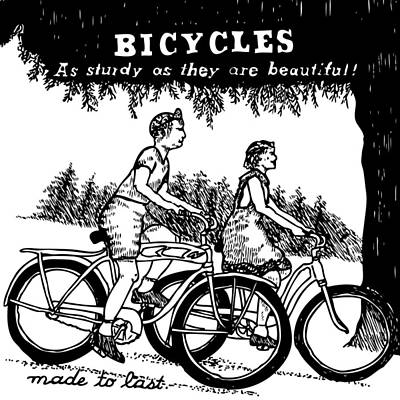 Bicycles - As Sturdy As They Are Beautiful Art Print by Karl Addison