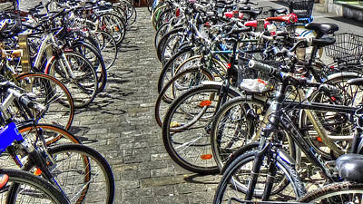 Photograph - Bicycles by Adrian LaRoque