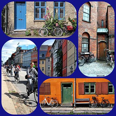 Photograph - Bicycles Around Copenhagen by Jacqueline M Lewis