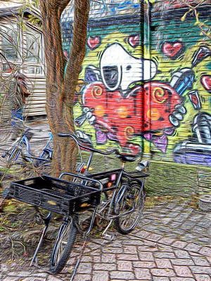 Photograph - Bicycles At Rest by Dorothy Berry-Lound