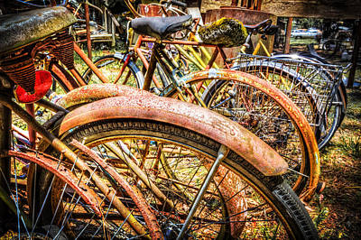 Photograph - Bicycles by Debra and Dave Vanderlaan