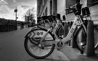 Photograph - Bicycles by Ester Rogers
