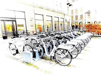 Photograph - Bicycles For Hire by Dorothy Berry-Lound