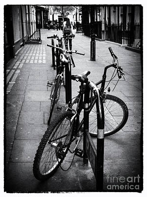 Photograph - Bicycles In A London Street by Lynn Bolt