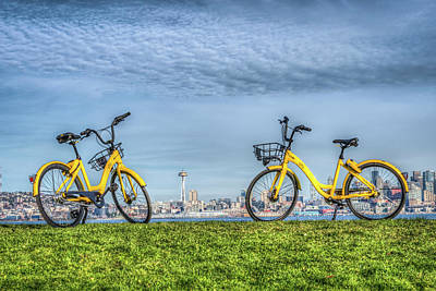 Photograph - Bicycles On Alki Beach by Spencer McDonald